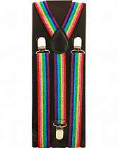Suspender - Rainbow Stripe Wide