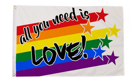 3 x 5 All You Need Is Love  Flag