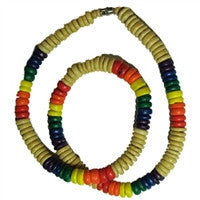 Gay Pride Coco Beads - Tan