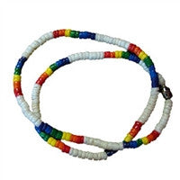 "Gay Pride ""Surfer"" White Puka Shell Necklace"