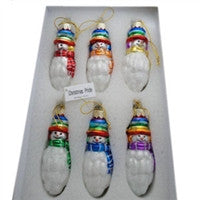 Christmas Snowman Pride Ornaments - Iridescent