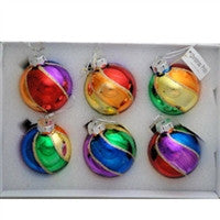Christmas Pride Rainbow Ornaments