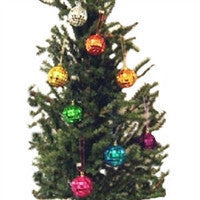 Christmas Solid Colored Mirror Ball Ornament - Set of 8