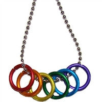 Gay Pride Freedom Rings Necklace