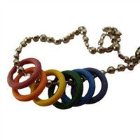 Gay Pride Freedom Rubber Rings Necklace
