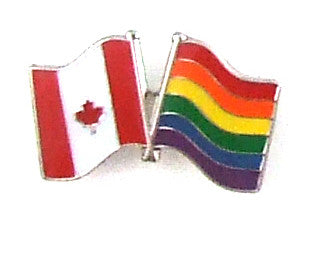 Candian and Pride Flag Lapel Pin