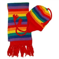 Gay Pride Beanie and Scarf Set