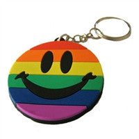 Rubber Keychain - Gay Pride Smile