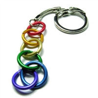 Keychain - Freedom Rings - Silver