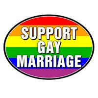 Euro Car Magnet - Support Gay Marriage