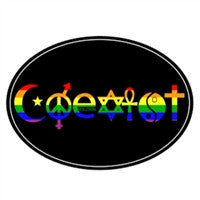Euro Car Magnet - Coexist