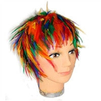Gay Pride Feather Wig