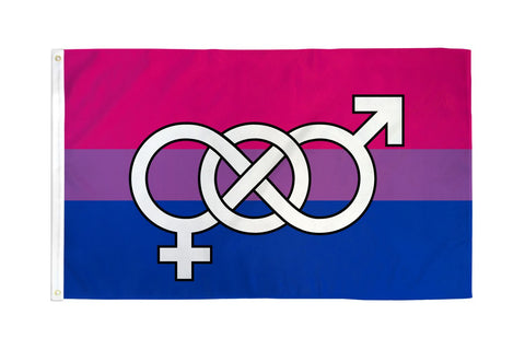 3 x 5 Bisexual Symbol Flag