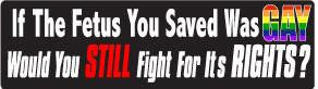 If the Fetus... Bumper Sticker