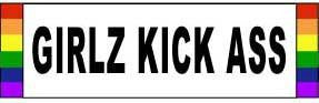 Girlz Kick Ass Bumper Sticker