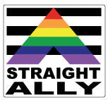 Straight Ally Bumper Sticker