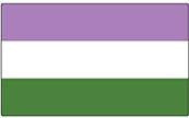 Genderqueer Flag Bumper Sticker