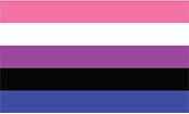 Gender Fluid Flag Bumper Sticker