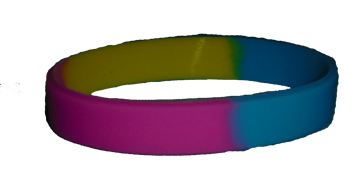 Silicone Bracelet - Pansexual Pride