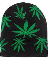 Beanie - Large Pot Leaf