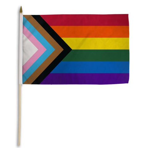 12 x 18 Progress Pride Stick Flag