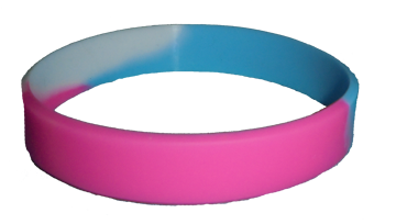 Silicone Bracelet - Transexual Pride