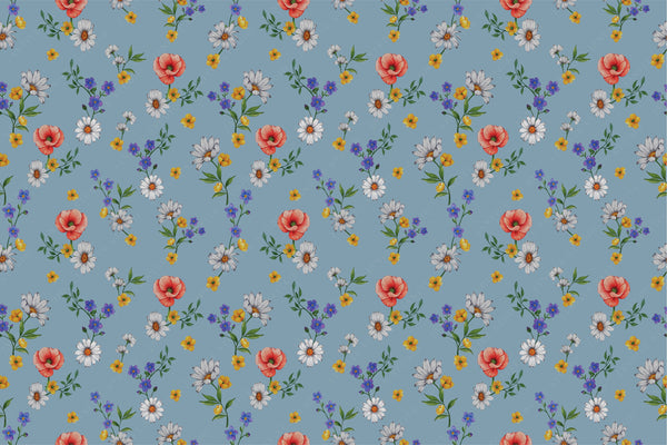 Janfive Studio Forget me not blue pattern