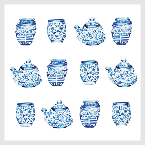 Janfive studio Art Wall Fine China Ceramics repeat