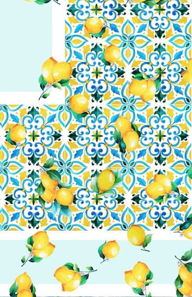 Janfive Studio Lemon repeat pattern