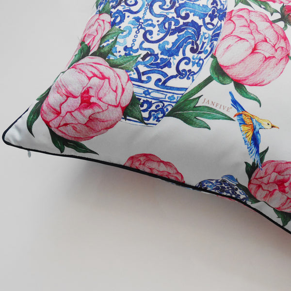 Janfive Studio Peonies Cushion