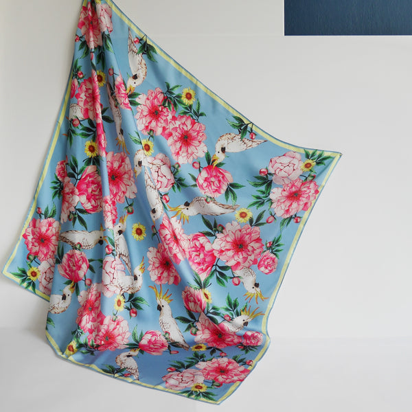 Janfive Studio - Cockatoo Blue scarf
