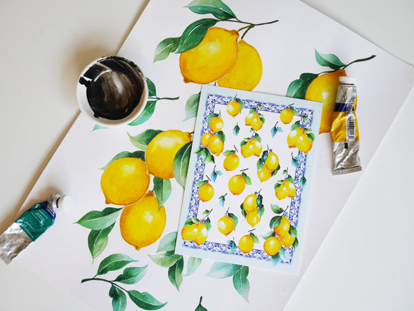 Janfive Studio Lemon Tile Postcard