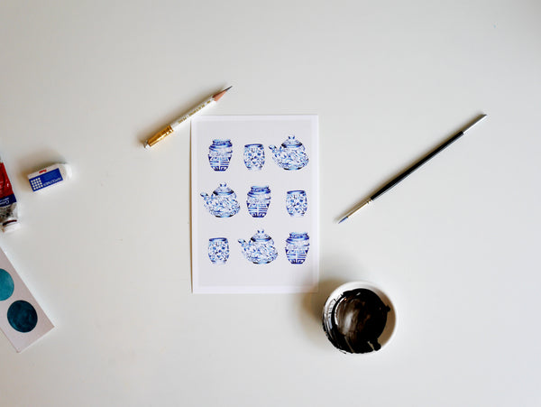 Janfive Studio Fine China Ceramics Postcard