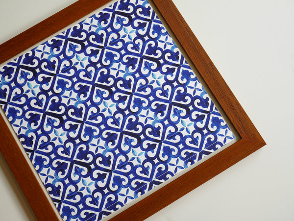 Art Wall Print Blue Tiles