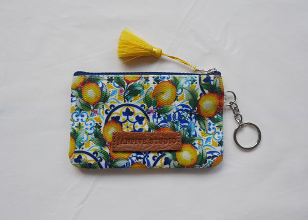 Janfive Studio Card & Coin Purse Tiles & Lemons