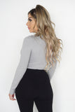 SHELLY TOP - GREY