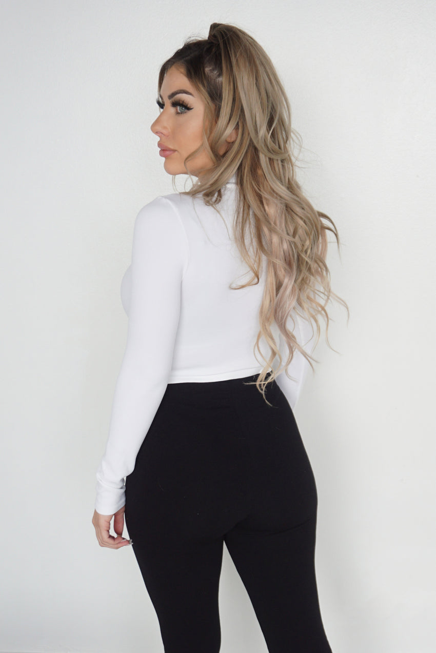 SHELLY TOP - WHITE