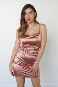 LOVE SWEPT DRESS - ROSE GOLD - LuxxLook
