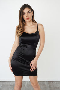 LOVE SWEPT DRESS - BLACK - LuxxLook