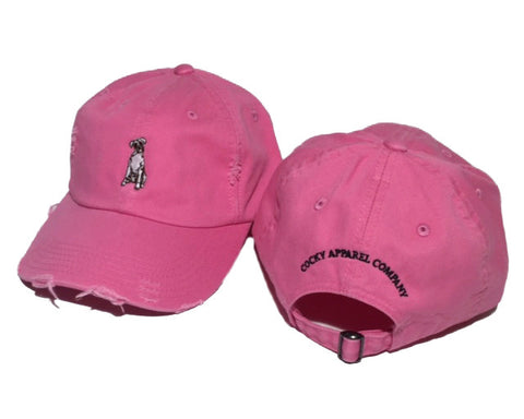 Cocky Apparel Company Frayed Cap in Pink