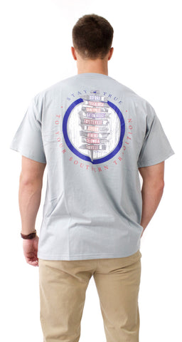 Southern Traditions Short Sleeve T-Shirt in Chrome Grey - Properly Tied