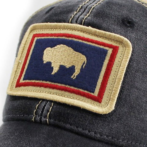 Buffalo Patch Trucker Hat in Vintage Black - State Legacy Revival