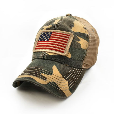 1812 Flag Cap in Woodland Camouflage - State Legacy Revival