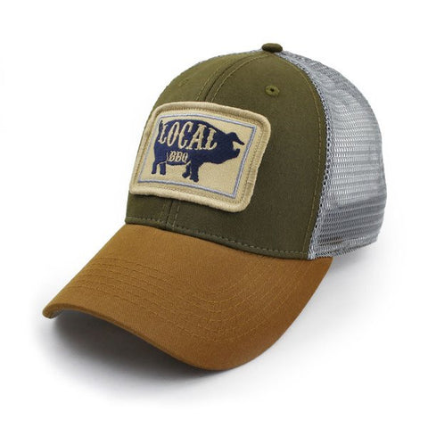 Local BBQ Pig Everyday Trucker Hat in Olive - State Legacy Revival