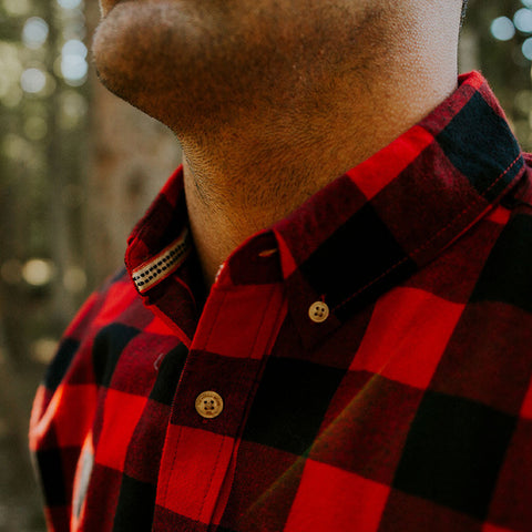 Brushed Buffalo Red and Black Flannel - The Normal Brand