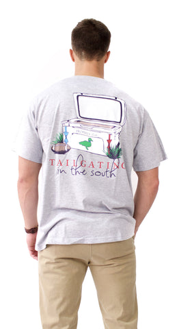 Tailgating in the South Short Sleeve T-Shirt in Heather Grey - Properly Tied