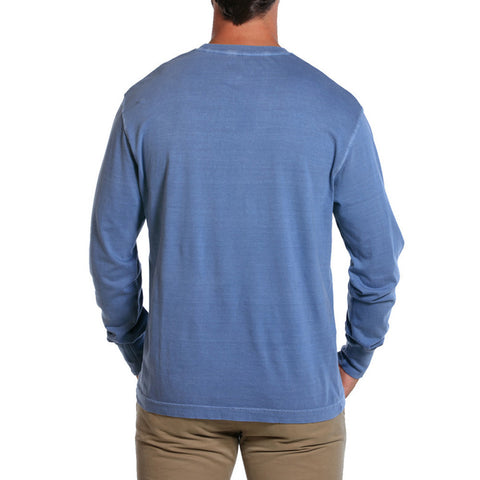 Long Sleeve Bear T in Blue - The Normal Brand