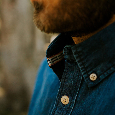Dark Washed Denim Button Down - The Normal Brand