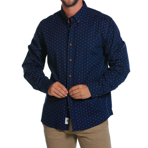 Washed Poplin Fleur de Lis Button Down  - The Normal Brand