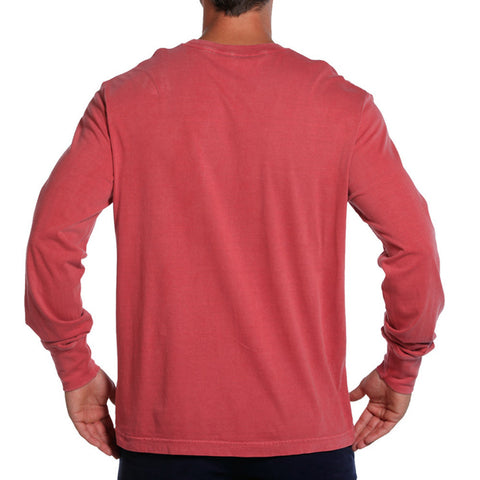 Long Sleeve Bear T in Crimson - The Normal Brand